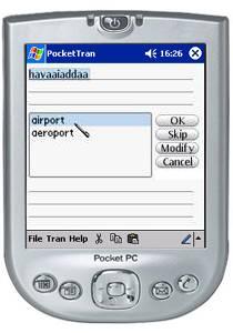 PocketTran Hindi to English translation