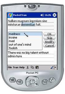 PocketTran Latin to English translation 2