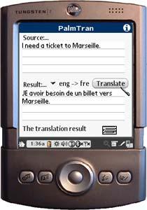 PalmTran English to French translation 3