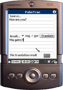 Traduction de PalmTran de l'anglais vers l'allemand